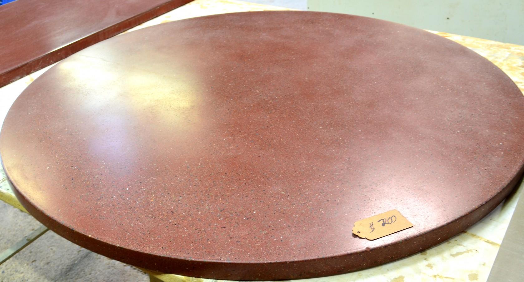 Maroon Round Table Top Bohemian Stoneworks